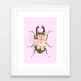 FLORAL BEETLE Framed Art Print