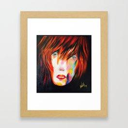 stylish girl Framed Art Print