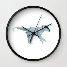 Origami Monkey Wall Clock