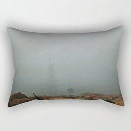 Caspar David Friedrich - Sea Beach in the Fog Rectangular Pillow