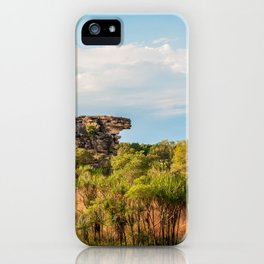 Almost typical Australian Landscape: green and gold iPhone Case