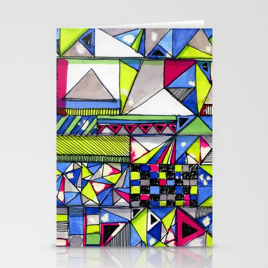 Neon Textures Stationery Cards