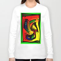 frames Long Sleeve T-shirts featuring Mysterious frames II by Horacio Moschini