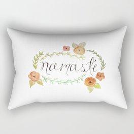 Namaste Floral Watercolor Rectangular Pillow