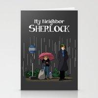 johnlock Stationery Cards featuring My neighbor Sherlock by AcidBurn