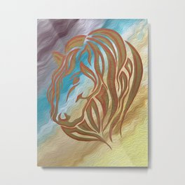 Copper & Old Gold Abstract Mare Metal Print