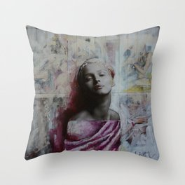 Painted Statue Throw Pillow