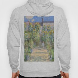 The Artists Garden at Vetheuil (1881) by Claude Monet Hoody