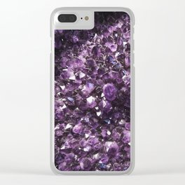 Amethyst Crystal Photography Clear iPhone Case