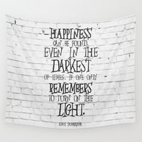 dumbledore Wall Tapestries featuring Albus Dumbledore Quote Inspirational by Go Art