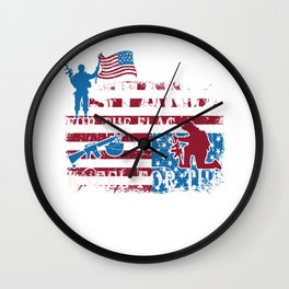 Stand for the Flag Kneel for the Fallen Wall Clock