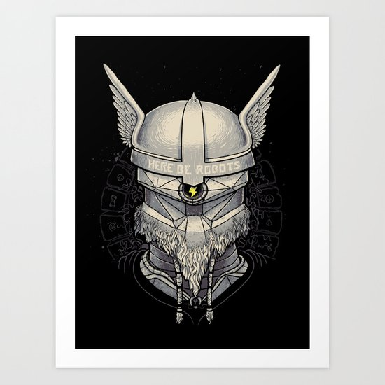 Viking robot Art Print