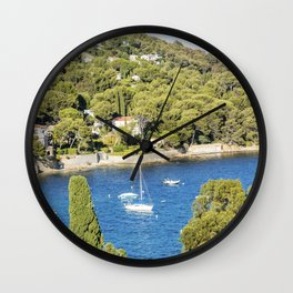 Seacoast near Le Lavandou and Bormes-les-Mimosas in French Riviera Wall Clock