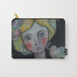 Lady with Flying Thoughts Carry-All Pouch