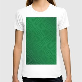 Green Posh infinity circles  geometric pattern for home decoration T-shirt
