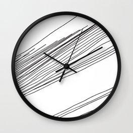 Walk The Line Wall Clock