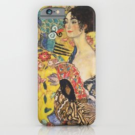 Gustav Klimt Lady With Fan  Art Nouveau Painting iPhone Case