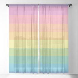 Pastel Rainbow Sheer Curtain
