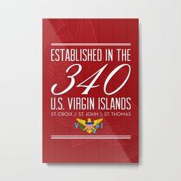 Established in the 340/USVI - Red Metal Print