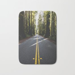 Redwoods Road Trip - Nature Photography Bath Mat
