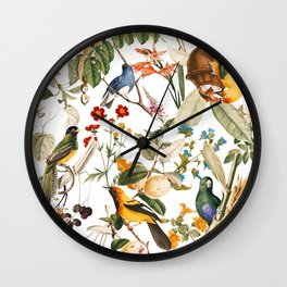 Floral and Birds XXXII Wall Clock
