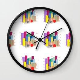 Isometric diagram columns Wall Clock
