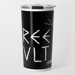 TREE CULT - WHITE ON BLACK Travel Mug