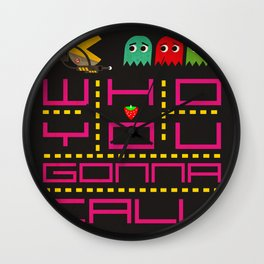 pacman ghostbuster Wall Clock