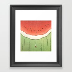 Fleshy Fruit (Watermelon) Framed Art Print