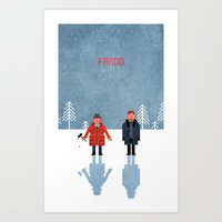 fargo Art Prints featuring Fargo by laurxy