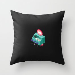 Tiny Ice Cream Stall Throw Pillow