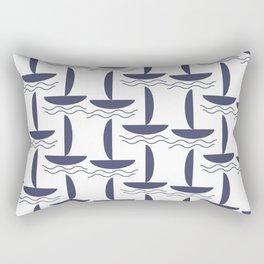 Blue boats pattern Rectangular Pillow