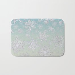 Frosty Day - Snowflakes Bath Mat