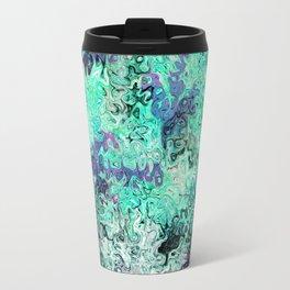 So Undecided, Abstract Art Swirls Pattern Travel Mug