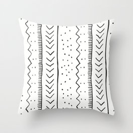 Moroccan Stripe in Cream and Black Throw Pillow