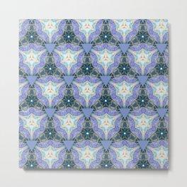 Lilac Triangles Metal Print