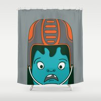 sports Shower Curtains featuring Sports?! by Aron Gelineau