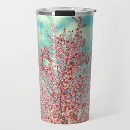 Pink flowers in the early morning Travel Mug