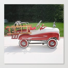 Generic Childs Metal Pedal Car Firetruck Car Canvas Print