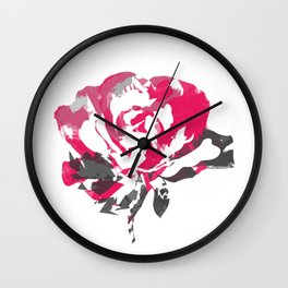 Rose is Red Abstract Wall Clock