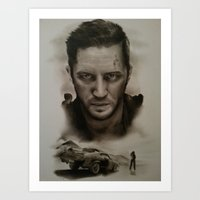 mad max Art Prints featuring Mad Max by David Nash
