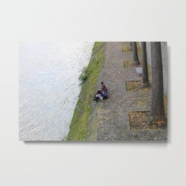 Meet me for Lunch at the Seine Metal Print