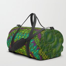 Butterfly flower jungle and full of leaves everywhere Duffle Bag