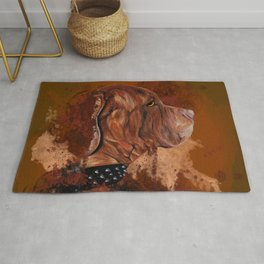 Dog drawing Rug