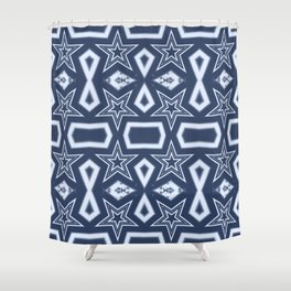 Blue stars pattern Shower Curtain