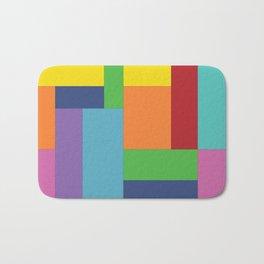 Multicolor square Bath Mat