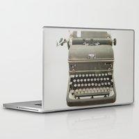 typewriter Laptop & iPad Skins featuring Typewriter by LUKE/MALLORY