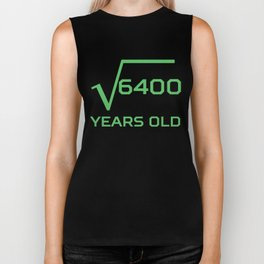 Square Root Of 6400 Funny 80 Years Old 80th Birthday Biker Tank
