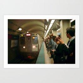 Subway Commute Art Print