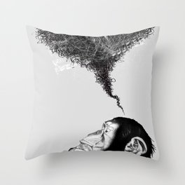 Chimpistotle Throw Pillow